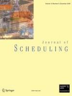 Journal of Scheduling 6/2009
