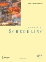 Journal of Scheduling 4/2013