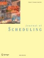Journal of Scheduling 2/2014