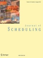 Journal of Scheduling 4/2016