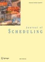 Journal of Scheduling 2/2017