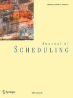 Journal of Scheduling 3/2017