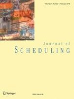 Journal of Scheduling 1/2018