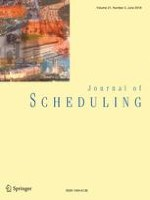 Journal of Scheduling 3/2018