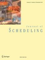 Journal of Scheduling 6/2018