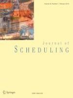 Journal of Scheduling 1/2019