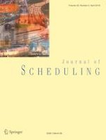 Journal of Scheduling 2/2019