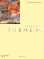 Journal of Scheduling 4/2019