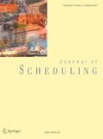 Journal of Scheduling 5/2019