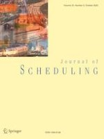 Journal of Scheduling 5/2020