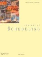 Journal of Scheduling 1/2021