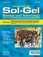 Journal of Sol-Gel Science and Technology 3/2001