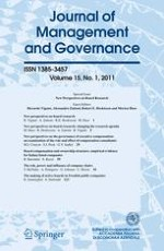 Journal of Management & Governance 1/2011