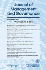 Journal of Management and Governance 3/2016