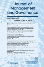 Journal of Management and Governance 4/2018