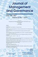 Journal of Management and Governance 1/2019