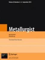 Metallurgist 5-6/2012