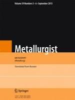 Metallurgist 5-6/2015