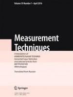 Measurement Techniques 1/2016