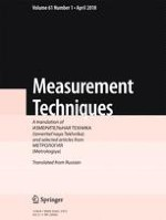 Measurement Techniques 1/2018