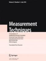 Measurement Techniques 4/2018