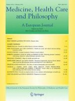 Medicine, Health Care and Philosophy 1/2015
