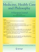 Medicine, Health Care and Philosophy 3/2018