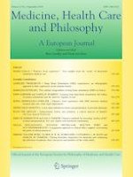 Medicine, Health Care and Philosophy 3/2019