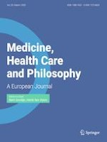 Medicine, Health Care and Philosophy 1/2020
