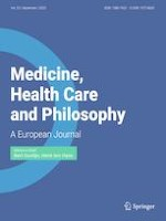 Medicine, Health Care and Philosophy 3/2020