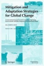 Mitigation and Adaptation Strategies for Global Change 1/2008