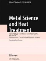 Metal Science and Heat Treatment 11-12/2016