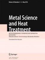 Metal Science and Heat Treatment 1-2/2016