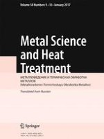Metal Science and Heat Treatment 9-10/2017