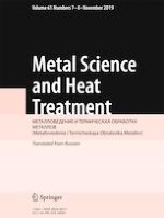 Metal Science and Heat Treatment 7-8/2019