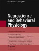Neuroscience and Behavioral Physiology 2/2018