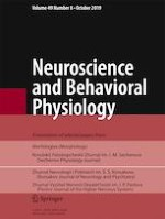 Neuroscience and Behavioral Physiology 8/2019