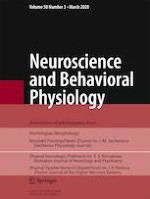 Neuroscience and Behavioral Physiology 3/2020