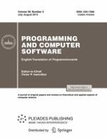 Programming and Computer Software 4/2013