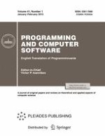 Programming and Computer Software 1/2015