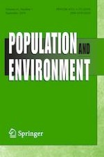 Population and Environment 1/2019