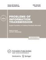Problems of Information Transmission 4/2009