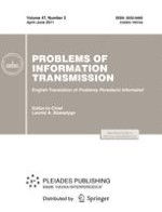 Problems of Information Transmission 2/2011