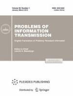 Problems of Information Transmission 1/2014