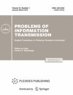 Problems of Information Transmission 1/2015