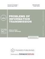 Problems of Information Transmission 1/2021