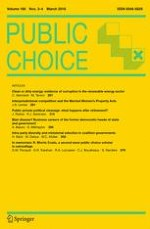 Public Choice 3-4/2016