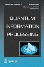 Quantum Information Processing 8/2020