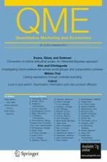 Quantitative Marketing and Economics 3/2012