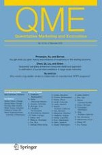 Quantitative Marketing and Economics 4/2018